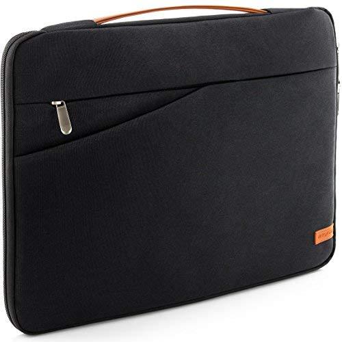 """deleyCON Notebook-Tasche für MacBook Laptop bis 15,6"""" (39,62cm) Schutztasche aus robustem Nylon 2 Zubehörfächer verstärkte Polsterwände - Schwarz"""