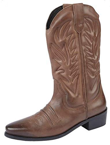 Gringos Men's KANSAS Western Cowboy Boots 9 UK Brown