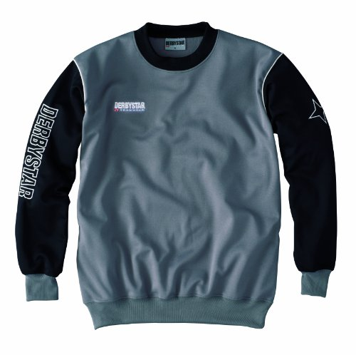 Derbystar Herren Sweatshirt Primera grau / schwarz