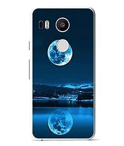 PrintVisa Moon Shadow High Gloss Designer Back Case Cover for LG Nexus 5X :: LG Google Nexus 5X New