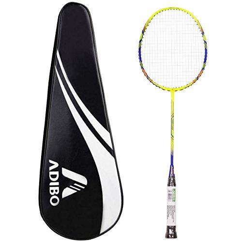 Preisvergleich Produktbild Badminton Schläger,  ADIBO 1 Stück Graphit Badmintonschläger Federballschläger Einzelschläger mit Schlägertasche für Professionelle und Anfänger Spieler