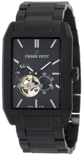 Pierre Petit - P-781B - Montre Homme - Automatique - Analogique - Bracelet Acier Inoxydable Noir