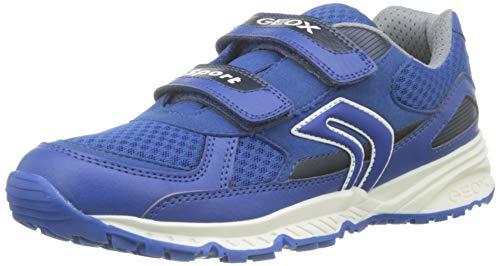 Geox Jungen J Bernie C Sneaker, Blau (Royal C4011), 29 EU Ankle Strap Sneakers