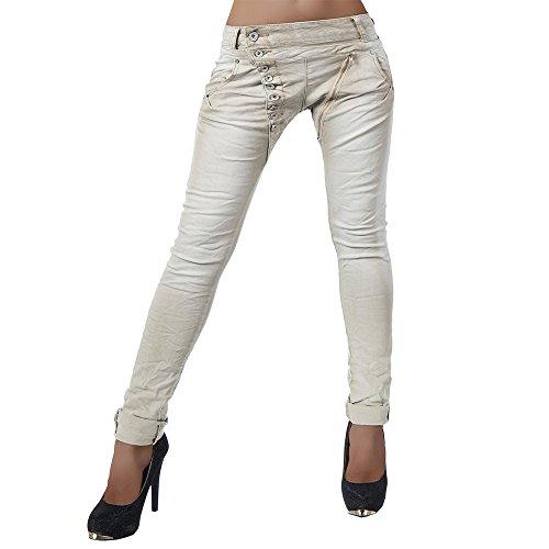 H812 Damen Jeans Hose Boyfriend Damenjeans Harem Baggy Chino