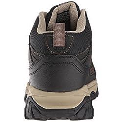 Skechers - Sport Afterburn - Zapatillas de deporte, tipo bota, de buen ajuste, para hombre, Marrón (Marrón/Negro), 9.5 EE US