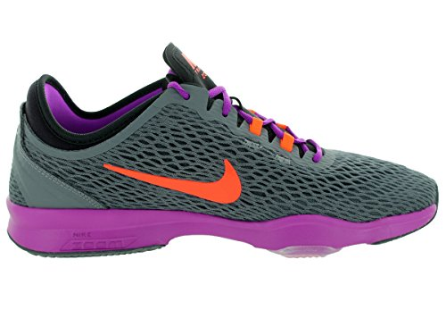 Nike Damen Wmns Zoom Fit Gymnastikschuhe Dark Grey/Hypr Orange/Vvd Prpl