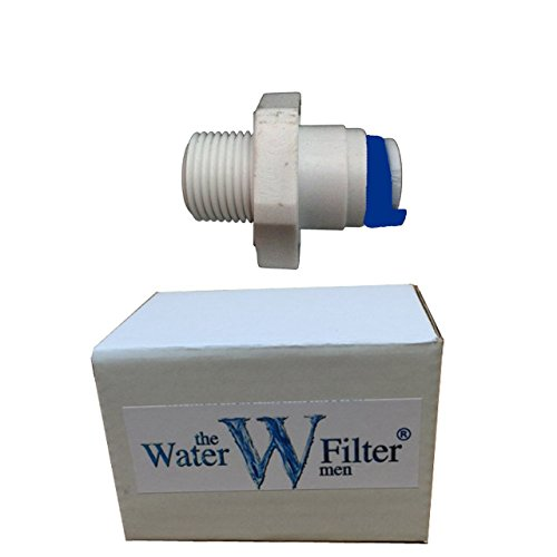 Water Filter Housing Straight Fitting - 1/4 thread to 1/4 Tubing Pipe Quickfit Pushfitting by The Water Filter Men -