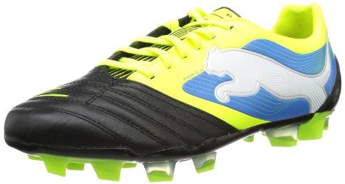 Puma Powercat 2 Fg Sapatos De Futebol 102783 Homens Negra (negro-fluo Amarelo-branco-azul Brilhante 04)