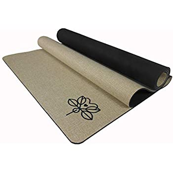 Iuga Eco Friendly Yoga Mat With Alignment Stripes Free