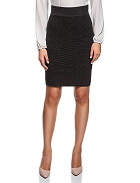 oodji Collection Mujer Falda de Punto Básica Texturizada