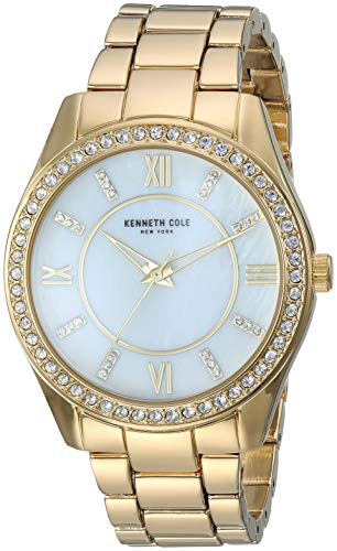 Kenneth Cole Women's Gold Tone Steel Bracelet & Case Quartz Watch KC50739003