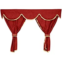 24//7Auto Red curtains trucks BIG SPACE CAB decorations 7 piece set for Actros MP4 2011