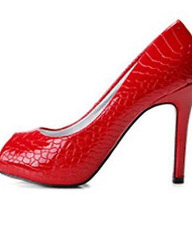 WSS 2016 Chaussures Femme-Décontracté-Noir / Rouge-Gros Talon-Talons-Chaussures à Talons-Polyuréthane red-us7.5 / eu38 / uk5.5 / cn38