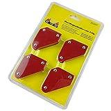Lopbinte 4 pezzi/set Triangolo-Posizionatore di saldatura 9Lb Strumenti di localizzazione a saldatore ad angolo fisso magnetico senza accessori per saldatura a interruttore