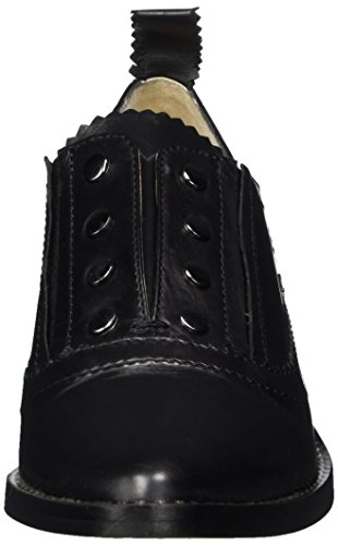 GARDENIA COPENHAGEN Damen Pointy Flat Shoe Geschlossene Brogue Schnürhalbschuhe Schwarz (calf Black)