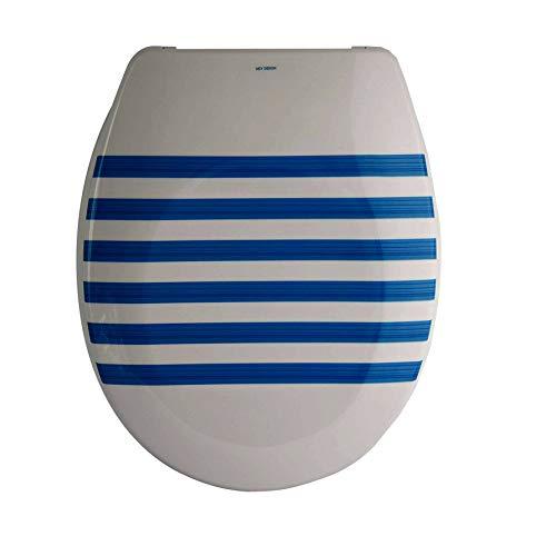 Wc-system (MSV Design WC Sitz, Absenkautomatik, Fast Fix/Schnellbefestigung, Befestigung mit Knopfdruck, Toilettensitz WC Deckel Klobrille