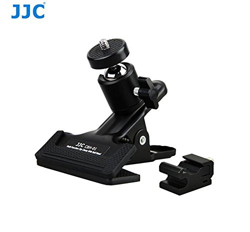 CBH-01 JJC metallo multifunzionale testa a sfera della clip morsetto per telecamere e flash
