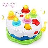 Amy & Benton Gâteau d'anniversaire pour Enfants Jouet Jeu de société Gâteau d'anniversaire avec Bougies pour Enfants Bébés Enfants Filles 1 2 3 4 5 Ans...