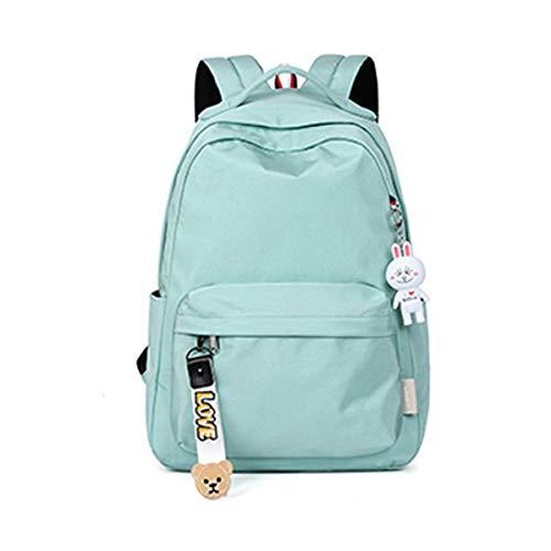 Schultasche, Studentenrucksack, lässig Rucksack, verschleißfest wasserdicht, geeignet für Gymnasiasten, Gymnasiasten, 29 * 14 * 47cm, grün, pink ( Color : Rosa , Size : 29*14*47cm )