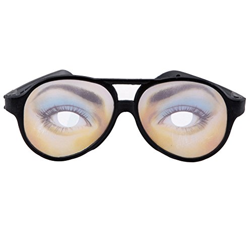 beiguoxia Let 's Party Gag Funny Fake Augen Disguise Brille für Masquerade Halloween-Kostüm Party - Herren, Plastik, Einfarbig, Damen S