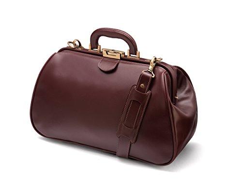Sage Gladstone les médecins sac en cuir véritable marron Dark Tan