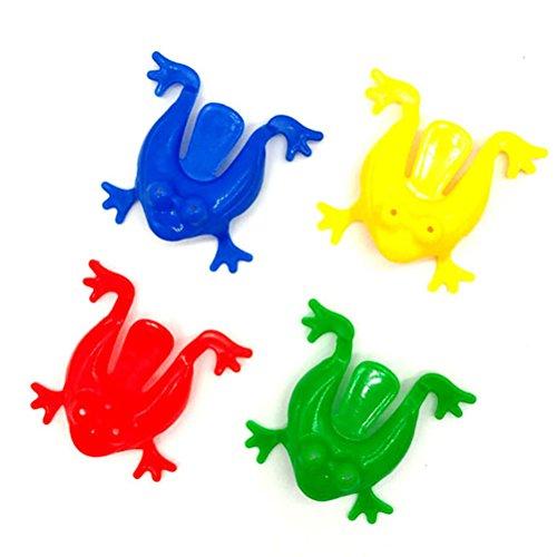 STOBOK Springende Frösche Frosch Hüpfspiel Weihnachten Spielzeug Geschenk 12 Stücke (Zufällige Farbe) (Der Springende Frosch)