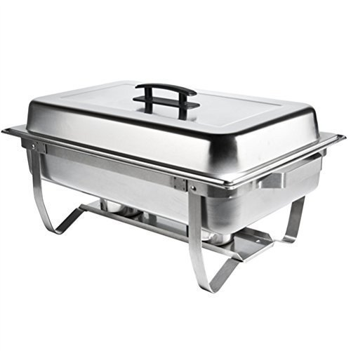 8qt Stainless Steel Chafer Dish w/ Folding Legs Complete by Atosa (Steel Chafer)