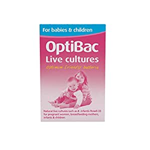 OptiBac Live Cultures - 'For babies & children' - 30 Sachets