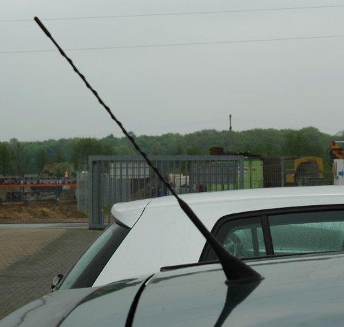 Antena de varilla universal para automóvil (16 V, 38 cm, adaptadores M5/ M6)