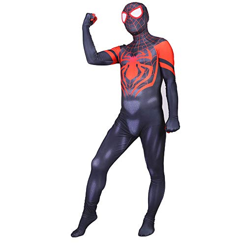 ASJUNQ Dernier Spiderman Kostüm Cosplay Overall Karneval Luxus Kostüm Costume Spiderman Superheld Kostüm Party Kostüm Klassisches ()