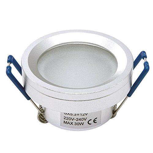 Feuchtraum Spot Einbauleuchte Einbau Strahler Set Decken Lampe IP44-726 MR11 Alu LED