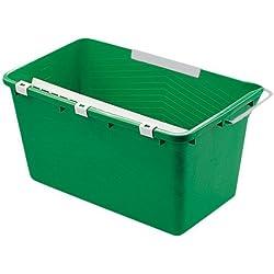 UNGER Eimer klein 18 l grün Eimer für die Glasreinigung mit Kunststoffablage