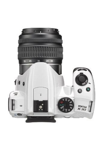 Pentax K-30 DSLR Camera with 18-55mm DAL Lens Kit - White (16MP, CMOS APS-C Sensor) 3 inch LCD