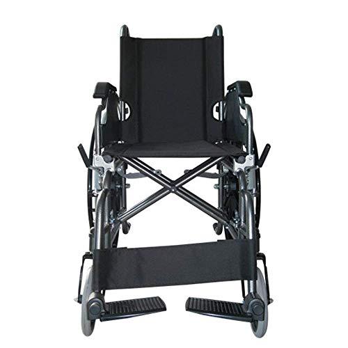 414d5kH7VUL - Silla de ruedas | Plegable | Ruedas grandes | Ortopédica | Reposabrazos abatibles | Negro | Giralda | Mobiclinic