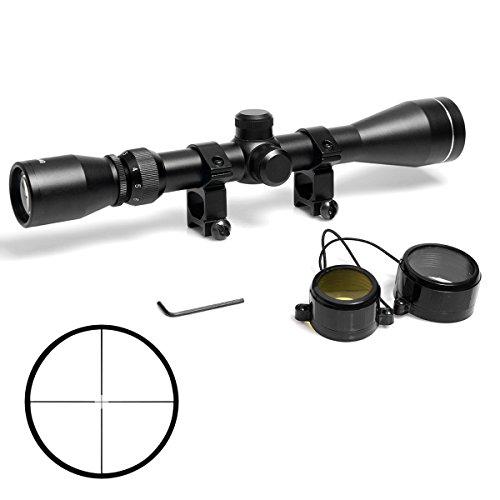 Goetland 3-9x40 Lunettes de Visée Optique R4 Réticule Tactique en Croix Chasse avec Montures