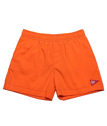oceankids-little-toddler-girls-pull-on-summer-active-beach-shorts-with-pocket-orange-5-6-years