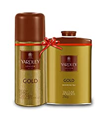 Yardley Gold Kit - Gold Deo, 150 ml + Gold Talc 250gm