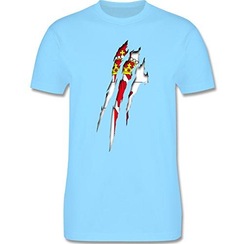 Länder - Nordirland Krallenspuren - Herren Premium T-Shirt Hellblau