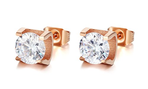 vnox-womens-girls-stainless-steel-cz-diamond-prong-setting-trendy-stud-earrings-jewelry-rose-gold