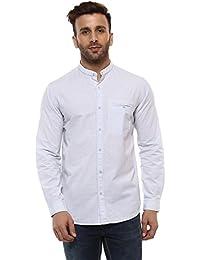 Mufti Mandarin Collar Plain Full Sleeves Shirt