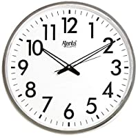 Ajanta Silent Movement Round Plastic Wall Clock (40.5 cm x 40.5 cm x 5 cm) white, Model 467
