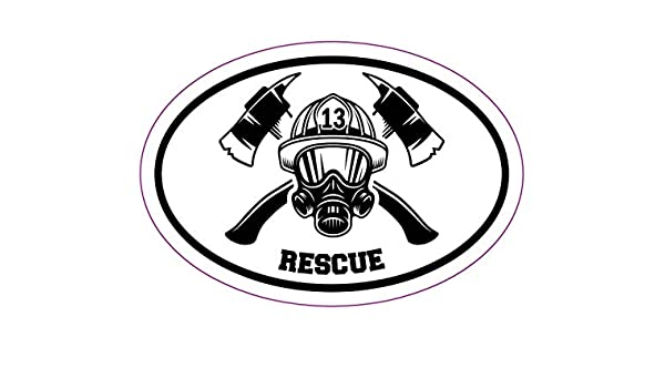 WickedGoodz Oval Firefighter Retired Decal Perfect Retired Firefighter Gift Fire Department Bumper Sticker