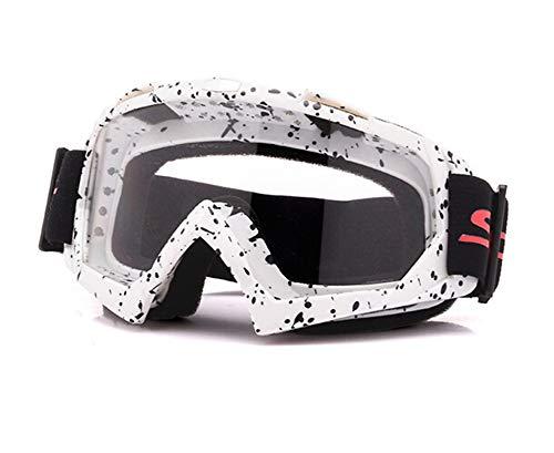 Aienid Sportsonnenbrille Fahrrad Weiß Schwarz Transparent Skibrille Winddichter Augenschutz