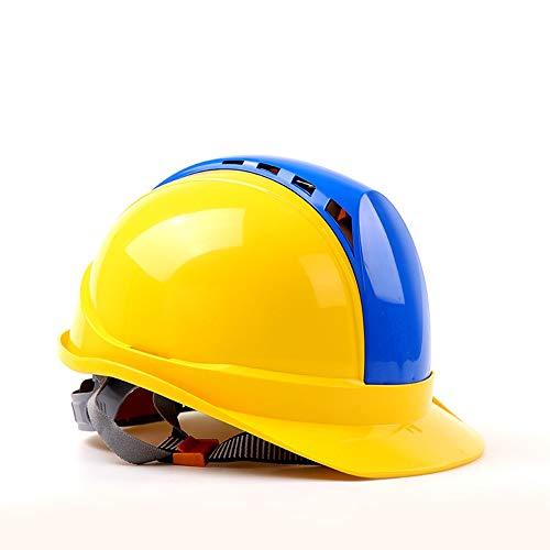 WYNZYSLBD Cappuccio, Casco di Sicurezza Ventilato per Cantiere, Casco con Mento, Multi-Colore Opzionale (Color : H)