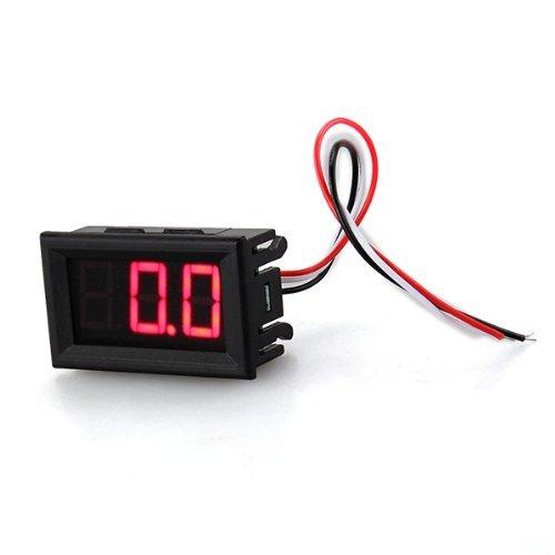 Mini paneles voltímetro comprobador digital DC 0-100V Rojo 3dígitos
