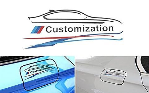 EX1 Auto Voiture Autocollant Décoration Decals pour BMW (Blanc)