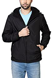 Peter England Black Regular Fit Jackets_EJK51600080_XXL