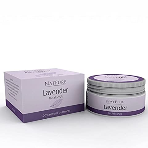 NatPure Lavender facial scrub 100% naturel Exfoliant naturel pour le