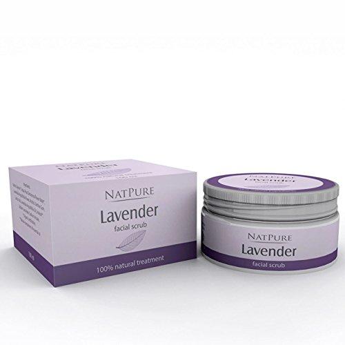 NatPure Lavender facial scrub 100% Naturkosmetik Lavendel Gesichtspeeling Rosenwasser 100ml