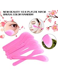 Gaddrt Homemade 10Pcs Mask Brush Plastic Facial Spoon Stick Makeup Beauty DIY Tool